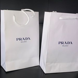 Authentic PRADA paper bags